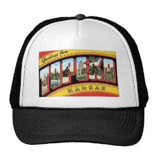 Vintage Topeka, Kansas Postcard Trucker Hat