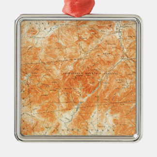 Vintage Topographical Mount Marcy New York Map Metal Ornament