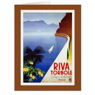 Vintage Torbole Riva Lake Garda Italian travel Card