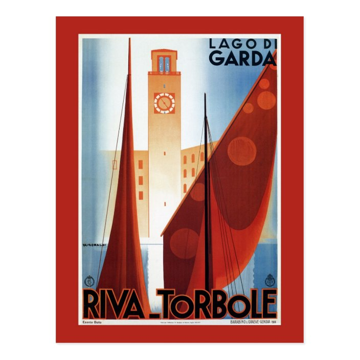 Premium-Poster Italien Travel Collection Riva Torbole Lago di Garda