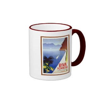 Vintage Torbole Riva Lake Garda Italian travel Ringer Mug