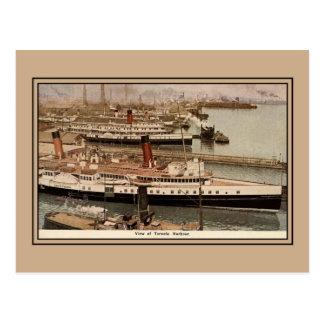 Vintage Toronto harbour, Chippewa steamer Post Card