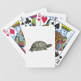 Vintage Tortoise Illustration Bicycle Playing Cards