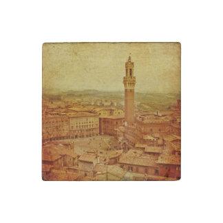 Vintage Toscana, Siena medieval Imán De Piedra
