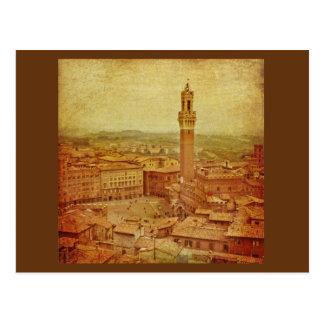 Vintage Toscana, Siena medieval Tarjetas Postales