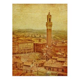 Vintage Toscana, Siena medieval Tarjeta Postal
