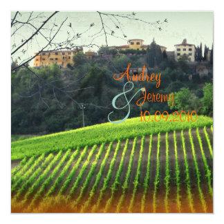 Vintage, Toscana Vinyard/boda del destino Invitación 13,3 Cm X 13,3cm