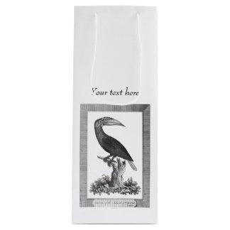 Vintage toucan bird etching bag wine gift bag