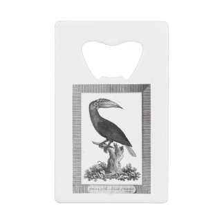 Vintage toucan bird etching bottle opener wallet bottle opener