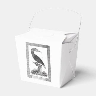 Vintage toucan bird etching box favor boxes