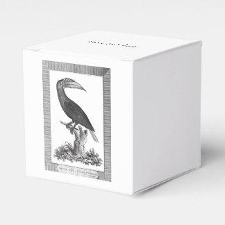 Vintage toucan bird etching box party favor box