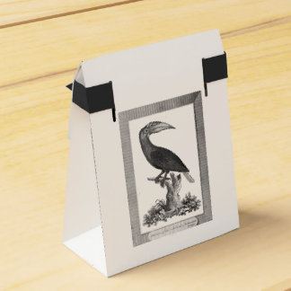 Vintage toucan bird etching gift bag party favor box