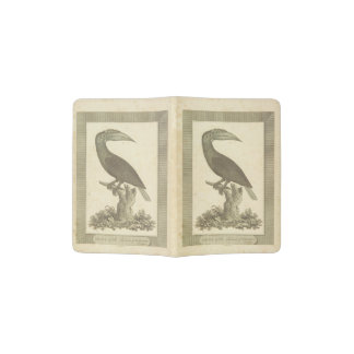 Vintage toucan bird etching holder passport holder