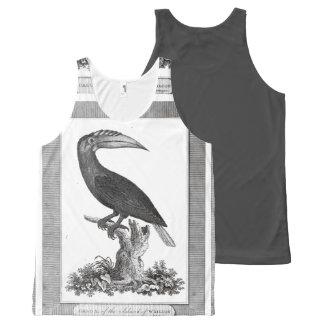 Vintage toucan bird etching shirt