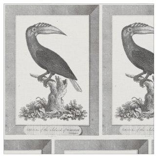 Vintage toucan bird etching textile fabric