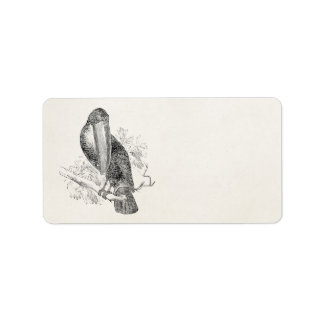 Vintage Toucan Tropical Bird Personalized Birds Label