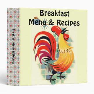Vintage Touch of Breakfast Menu & Recipes 3 Ring Binder