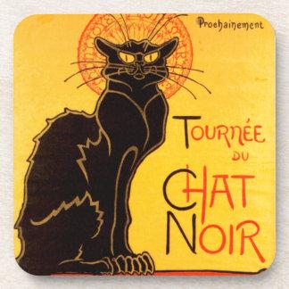 Vintage Tournee de Chat Noir Black Cat Beverage Coaster