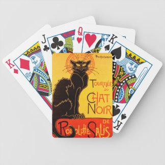 Vintage Tournee de Chat Noir Black Cat Bicycle Playing Cards