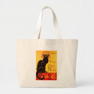 Vintage Tournee de Chat Noir Black Cat Large Tote Bag