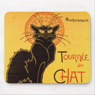 Vintage Tournee de Chat Noir Black Cat Mouse Pad