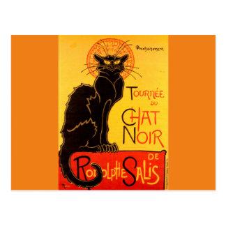 Vintage Tournee de Chat Noir Black Cat Postcard