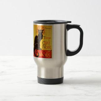 Vintage Tournee de Chat Noir Black Cat Travel Mug