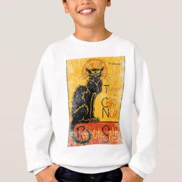Halloween Themed Vintage Tournee du Chat Noir Black Cat Halloween Sweatshirt