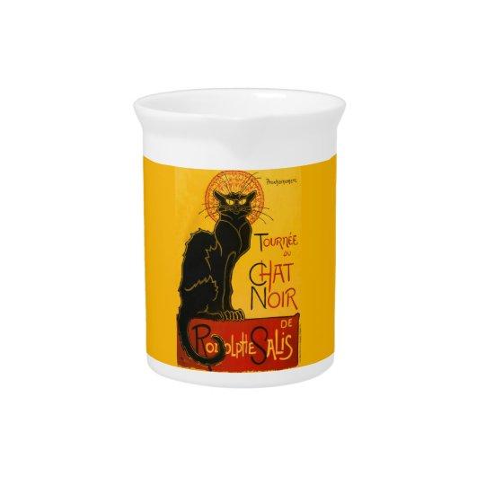 Vintage Tournée du Chat Noir Theophile Steinlen Beverage Pitcher