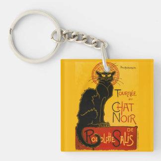 Vintage Tournée Du Chat Noir Theophile Steinlen Double-Sided Square Acrylic Keychain