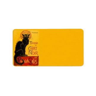 Vintage Tournée Du Chat Noir Theophile Steinlen Custom Address Label