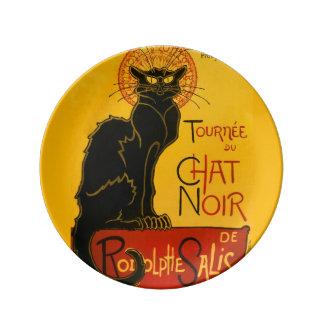 Vintage Tournée Du Chat Noir Theophile Steinlen Porcelain Plate