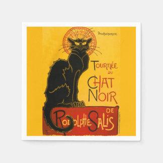 Vintage Tournée Du Chat Noir Theophile Steinlen Napkin
