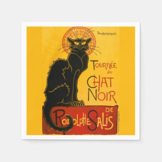 Vintage Tournée Du Chat Noir Theophile Steinlen Servilleta De Papel