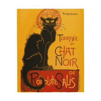 Vintage Tournée Du Chat Noir Theophile Steinlen Wood Wall Art