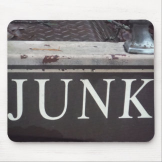 Vintage Tow Truck JUNK SIGN Mouse Pad