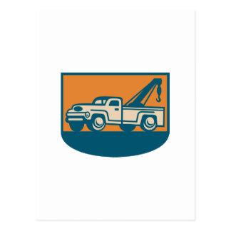 Vintage Tow Wrecker Pick-up Truck Postcard