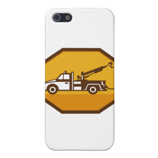 vintage tow wrecker truck side view retro iPhone 5 cases