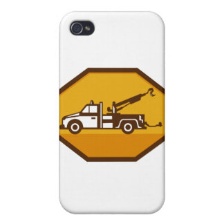 vintage tow wrecker truck side view retro iPhone 4/4S cover