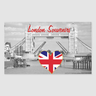 Vintage Tower Bridge London Souvenir Rectangular Sticker