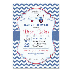 Airplane Baby Shower Invitations Announcements Zazzle