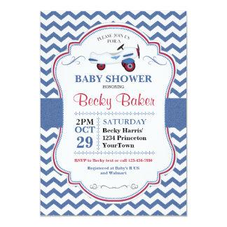 Vintage Toy Airplane Baby Shower Invitation