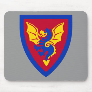 Vintage Toy Brick Knight Shield Logo Mouse Pad