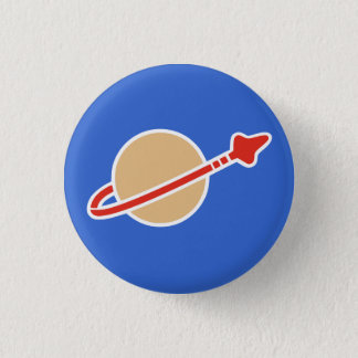 Vintage Toy Brick Space Astronaut Symbol Button