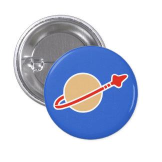 Vintage Toy Brick Space Astronaut Symbol Button