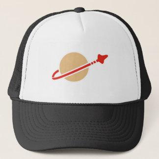 Vintage Toy Brick Space Astronaut Symbol Trucker Hat