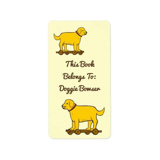 Vintage Toy Dog Custom Book Labels