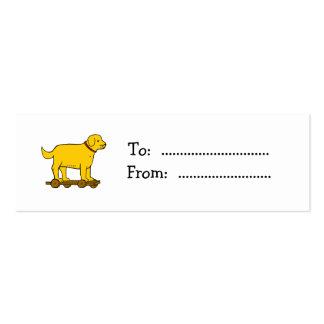 Vintage Toy Dog Custom Gift Tag Business Card