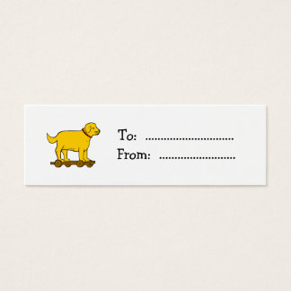 Vintage Toy Dog Custom Gift Tag Business Card