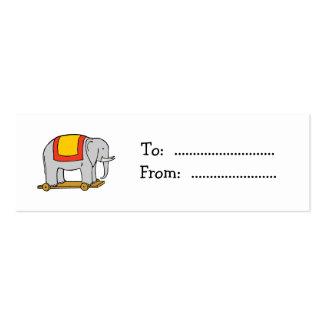 Vintage Toy Elephant Custom Gift Tag Business Card